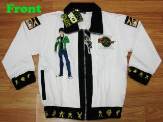 Ben 10 Alien Force Spring Jacket #712 White Size SL age 10 12
