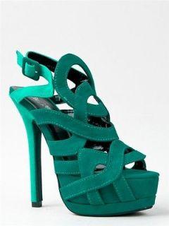 NEW WILD ROSE Women Sexy Strappy Platform High Heel Sandal green sz