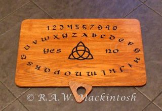 Handcrafted Wooden Ouija Board ~ Simple Triquetra ~ Witchboard