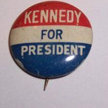 Newly listed AUTHENTIC JOHN F. KENNEDY FOR PRESIDENT CAMPAIGN PIN 1960