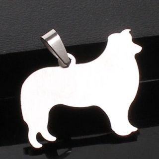 BORDER COLLIE PUPPY PUPPIES PET DOG TAG CHARM PENDANT + 23 CHAIN