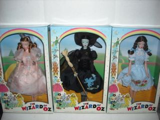 NEW BARBIE WIZARD OF OZ DOROTHY,WITCH,​GLINDA SET 3   NRFB 2010
