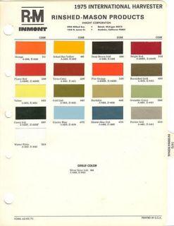 1975 international harvester paint chips sheet r m time left