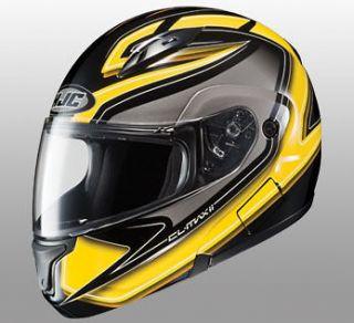 HJC CL MAX 2 ZADER STREETBIKE FLIP UP MOTORCYCLE HELMET YELLOW