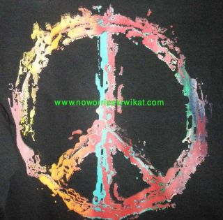 Shirt Peace Sign Woodstock Vw Hippy Love Man Flower No Worries Kiwi