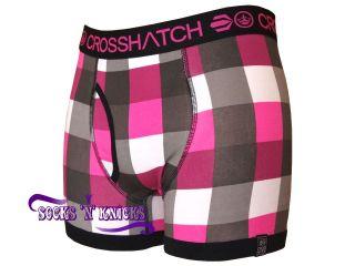 Crosshatch Checklist Design Check Boxer Shorts. Choice Of 5 Colours