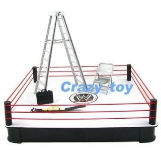 newly listed new wwe ring arena w accessories ladder belt figure time