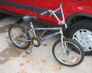 Old School Boys Vintage 1991 Chrome GT Mach One M1 BMX Bike 4130