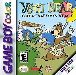 Yogi Bear Great Balloon Blast Nintendo Game Boy Color, 2000
