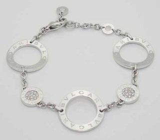 bvlgari bulgari 18k white gold diamond link bracelet make offers