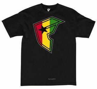 Zion Rootswear Lion(rastafari)New Lg Black T SHIRT/TEE