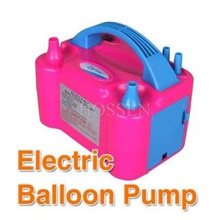 220V 600W Two Nozzle Balloon Inflator Electric Balloon Pump Portable