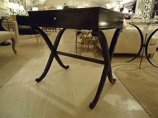 newly listed barbara barry black laquer sidetables pair time left