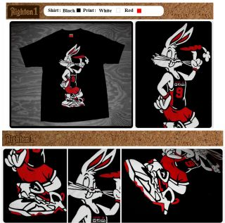 Cajmear 11 Space Jam Bugs Bunny Bred Red Shirt Wearing Jays VII