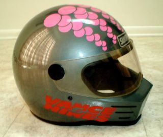 NHRA Terry Vance 13X Pro Stock Drag Bike Champion Simpson Helmet RARE