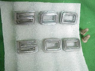 1967 Dodge Coronet RT 500 Hood or Trunk Deck Lid Letters Emblems 5