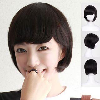 Womens Ladies Short Hair Cut Full Wig Pinkage Authentic Wigs Free Cap