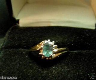 Natural Alexandrite Pretty Colors Diamonds 10K Gold
