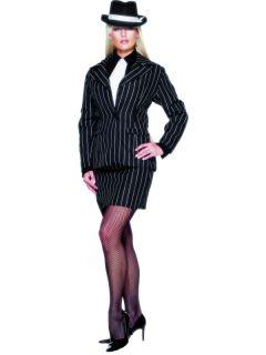 Gangster 20s Lady Zoot Suit Dress Costume Adult Medium