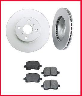 98 01 Toyota Corolla Front Brake Rotors & Ceramic Pads