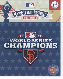 2012 San Francisco Giants World Series Champions 2 Patch Combo Jersey