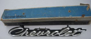 1967 Chevy Impala Grille Emblem Original GM Part
