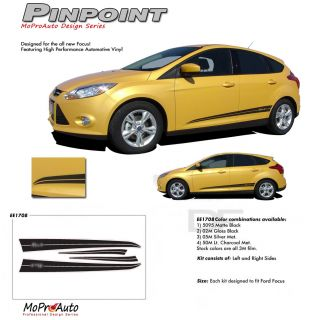 2013 Ford Focus Pinpoint Pro Grade 3M Vinyl Side Stripes Decals