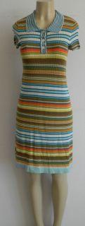 Orla Kiely Fall Winter Trendy Multi Color Stripe Knitted Dress