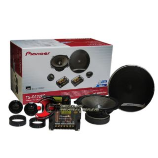 pioneer ts d1720c 6 3 4 car audio 2 way component speaker system pair