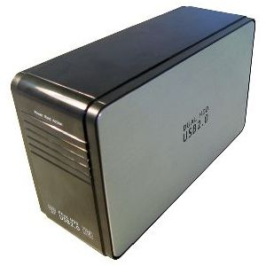 Dual SATA USB 2.0 External HDD Drive Enclosure RAID 0 & JBOD