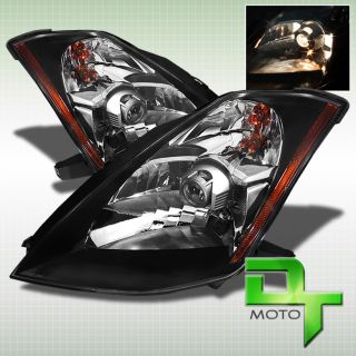 JDM Style Black 03 05 Nissan 350Z Projector Headlights Lights Left