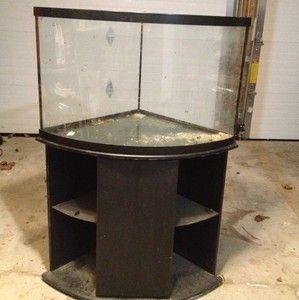 38 Gallon Glass Corner Bow Front Tank Aquarium Great Condition No