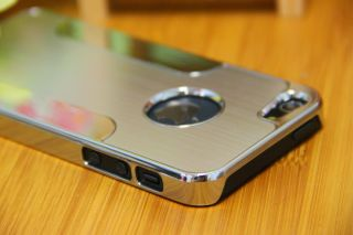 Plastic Hard Blade Back Case Cover for iPhone 5 5g in Silver