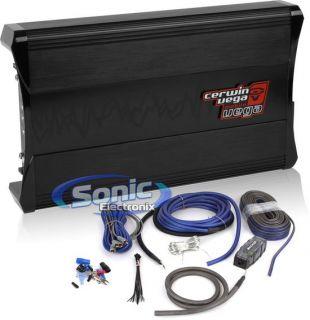 500W Cerwin Vega VEGA5004 4 Channel Amplifier Kicker ZCK44 4 AWG Gauge