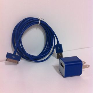 Blue 6 ft Foot Extra Long USB Sync Cable Cord iPhone 4 4s Charger IPOD
