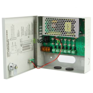 Port 12V DC 5 Amp Camera Power Supply Distribution Box
