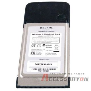 Belkin Wireless G 802 11g Notebook PCMCIA Card F5D7010