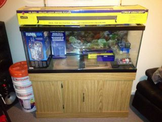 75 Gallon Salt Reef Fresh Water Aquarium Fish Tank w Extras Northern