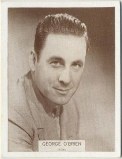 George OBrien Vintage 1934 Wills Famous Film Stars Tobacco Card 36 MD