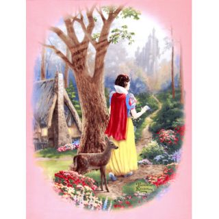 WONDERFUL THOMAS KINKADE DISNEY SNOW WHITE FLEECE FABRIC PANEL