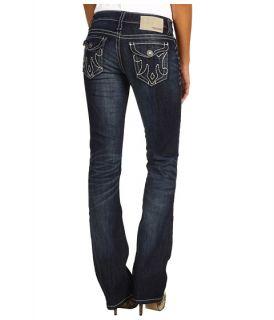 Mek Denim Oaxaca Slim Bootcut Jean in Dark Distressed $145.00 Mek