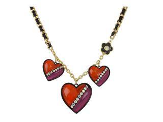 Betsey Johnson 60s Mod Heart Charm Necklace