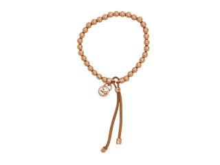 Michael Kors Heritage Leather Beaded Stretch Bracelet
