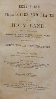 1867 Illustrated Characters and Places of The Holy Land Israel Ancient