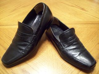 Testoni Made in Italy Black Dress Loafers 7 5M Nice