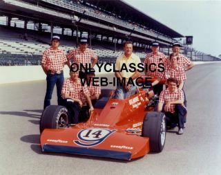 1975 A J FOYT DAD & CREW GILMORE COYOTE INDY 500 AUTO RACING TEAM