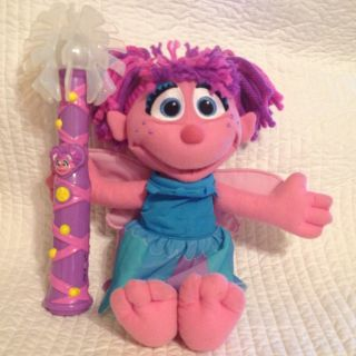 Abby Cadabby Sesame Street 13 Plush Doll with 2 Outfits Talking Light