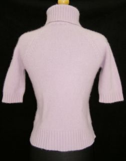 Saks Fifth Ave Purple Lilac Thick 100 Cashmere Sweater M Soft