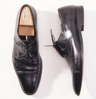 750 A Testoni Black Label Supple Lace Up Leather Dress Shoes 13 D Box
