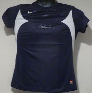 Abby Wambach Autographed Signed Team USA World Cup Blue Nike Jersey